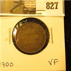 1900 Newfoundland 20c Piece, VF.