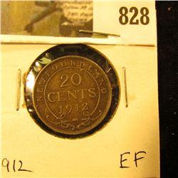 1912 Newfoundland 20c Piece, EF.