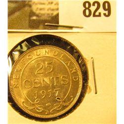 1917C Newfoundland Quarter, AU.