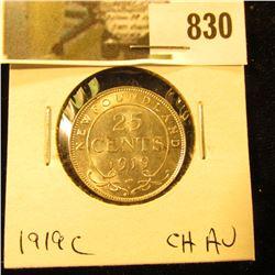 1919C Newfoundland Quarter, CH AU.