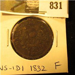 1832 Nova Scotia Half Cent Token, Fine, Charlton NS-1D1