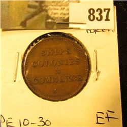 Prince Edward Islands Ships Colonies + Commerce token, EF, PE10-30.