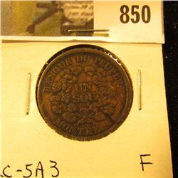 Banque Du Peuple token, Fine, Charlton LC-5A3.