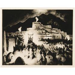 Gene Kloss -Christmas Eve - Taos Pueblo