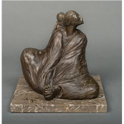 RC Gorman -Seated Woman