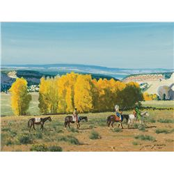 John Jarvis -On Horseback, Near Esclante, UT