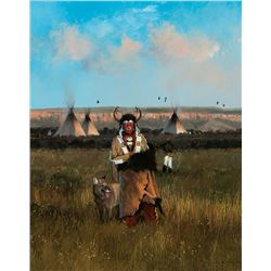 Michael Coleman -Split Horn Bonnet - Blackfoot Camp