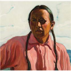 E. Martin Hennings -Portrait of Frank Samora