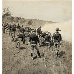 Frederic Remington -Artillery on Gun Hill