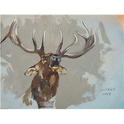 George Browne -Collection of 2 Paintings - Elk