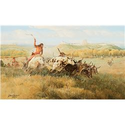John Clymer -Spotted Buffalo