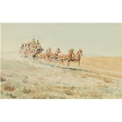 Edward Borein -Stagecoach