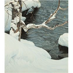 Robert Bateman -Kingfisher in Winter