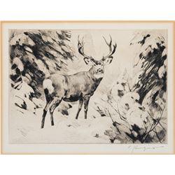 Carl Rungius -Mule Deer