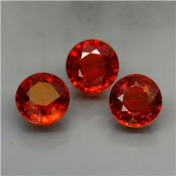 Natural Mandarin Orange Spessartite Garnet 5.5 MM