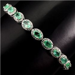 Natural  Green Emerald 56.43 Cts Bracelet