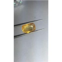 Natural Yellow  Cushion Sapphire 5.80 Carats