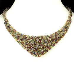 Natural Fancy Sapphire 528 Carats Necklace
