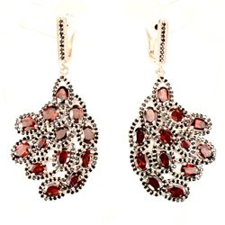 Natural Orange Mozambique Garnet Spinel Earrings