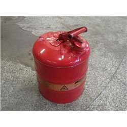 Justrite 5 Gallon Safety Can, Used for Gasoline
