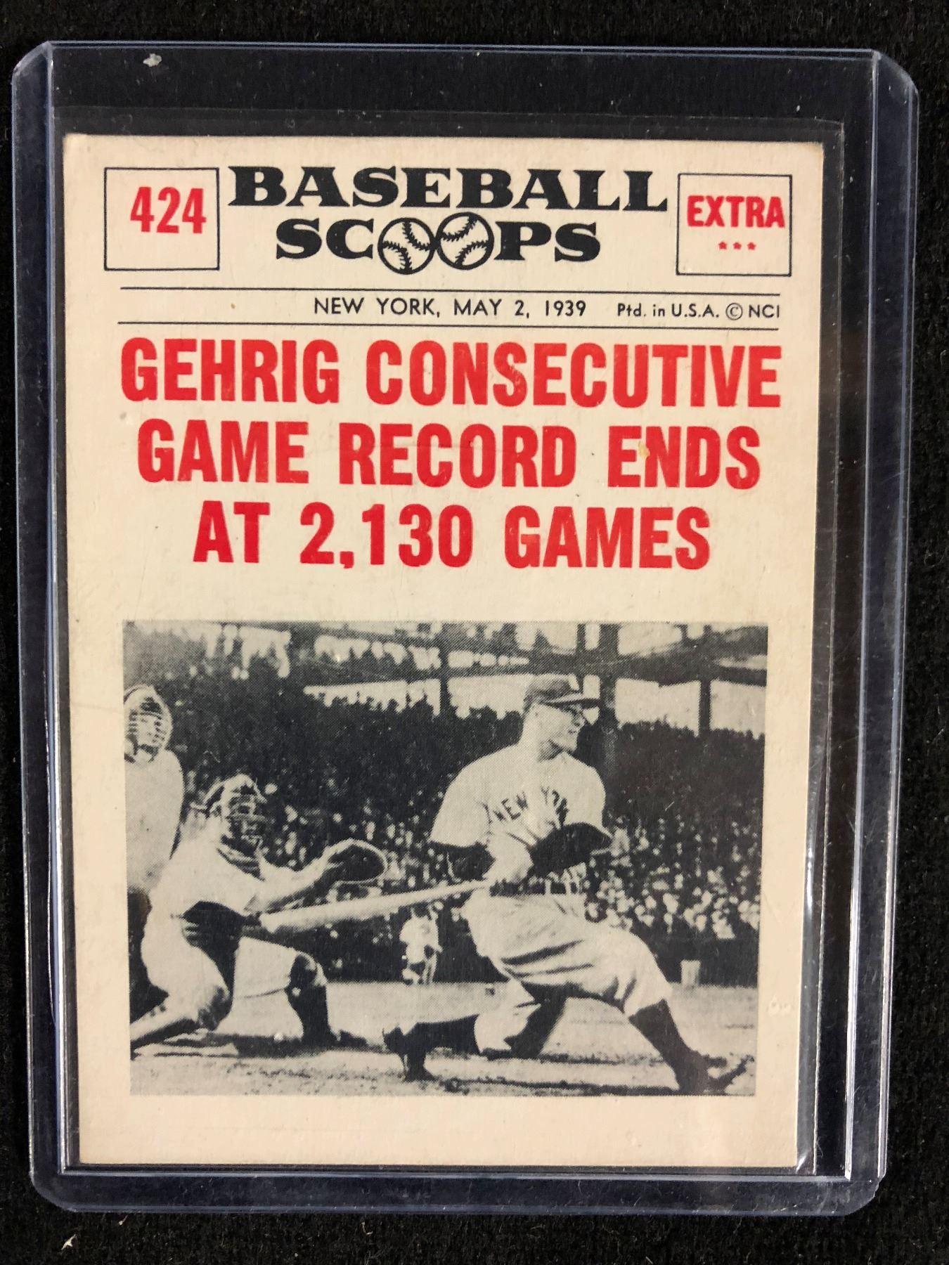 1961 Nu Card Scoops 424 Lou Gehrig Baseball Card