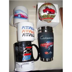Corvette Cups and Mugs Lot