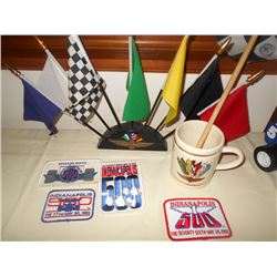 GREAT Indy Patches/ Flags/ Cup Collectable Lot