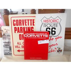 Corvette Parking Sign and Book