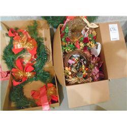 Up to 8 Seasonal Wreaths/ like new