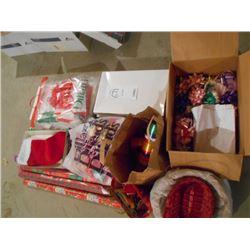 Huge Gift Box, Gift Wrap, Ribbon Lot/Mostly New