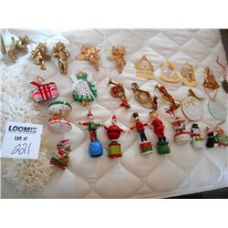 Over 50 Vintage Ornaments Christmas New