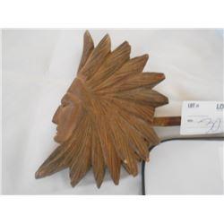 Carved Native American Head Pipe Unusual