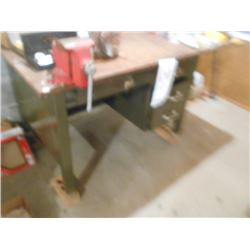 Steel Base Work Table w/ Vice