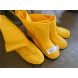 "Yellow Rubber ""Hazmat"" Boots"
