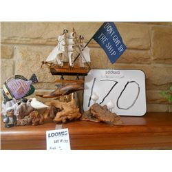 6 pc Nautical Themed Collectable Lot