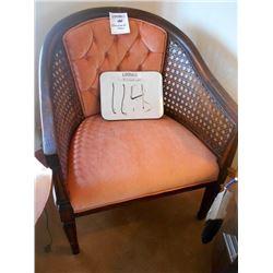 Vintage Rose Velvet Reed Sided Suede Chair