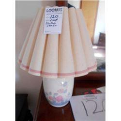 Stoneware Lamp w/Pleated Shade