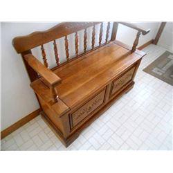 Oak Storage Bench LIKE NEW