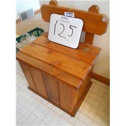 Single Solid Wood Seat Storage