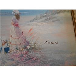 Signed Keswick /By the Sea Valued $150- $300