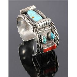 Navajo Sterling Silver and Turquoise Cuff