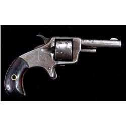 Engraved You Bet .22 Cal. Nickel Revolver ANTIQUE