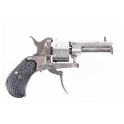European Folding Trigger .22 Cal Nickel Revolver