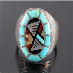 Carolyn Bobelu Zuni Sterling Silver Turquoise Ring