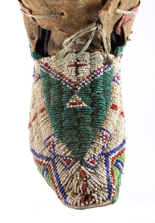 Oglala Lakota Sioux Beaded Moccasins c  1860-1870