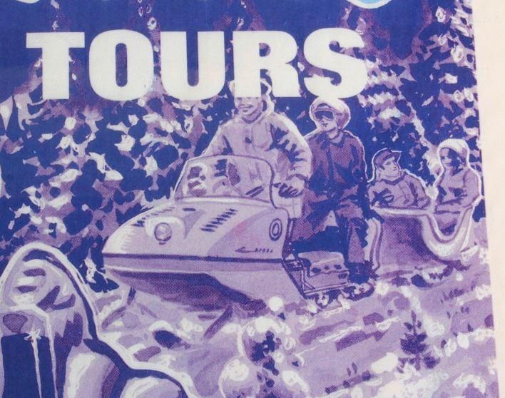 Original Yellowstone Park Snowmobile Tour Poster