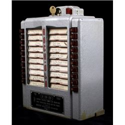 1952 Rock-Ola Model 1538 Wall Box Jukebox Selector