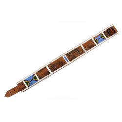 Nez Perce Beaded & Tacked Leather Belt circa 1880-