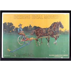 Original 1900 Deering Harvester Advertising Poster