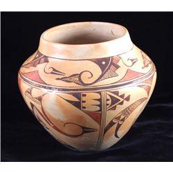 Signed Hopi Native American Indian Pottery Jar